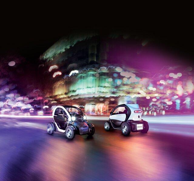 Renault TWIZY en mouvement