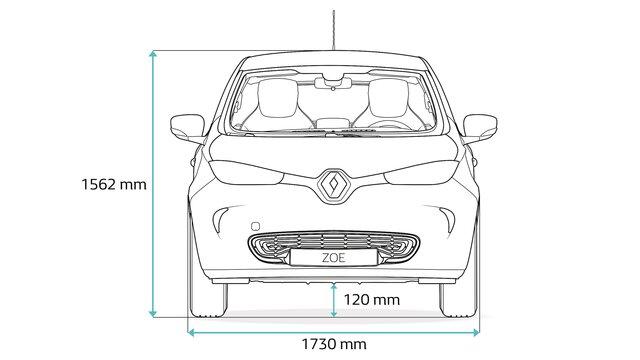 Renault ZOE - méretek oldalt