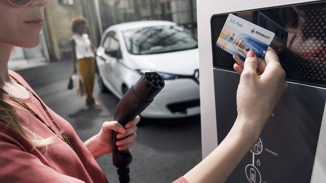 Renault ZOE recharge borne
