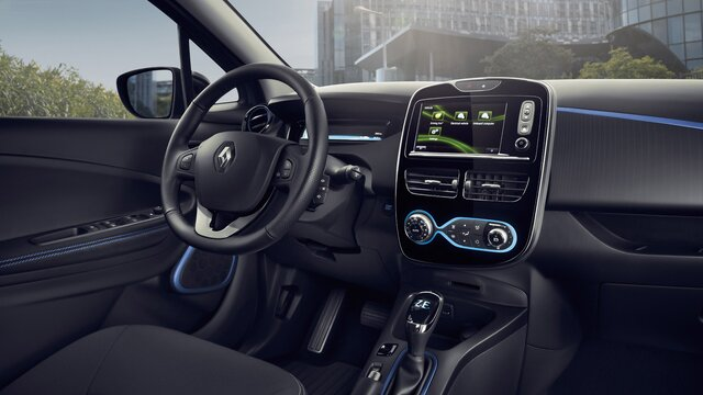 Renault ZOE - kék belső tér
