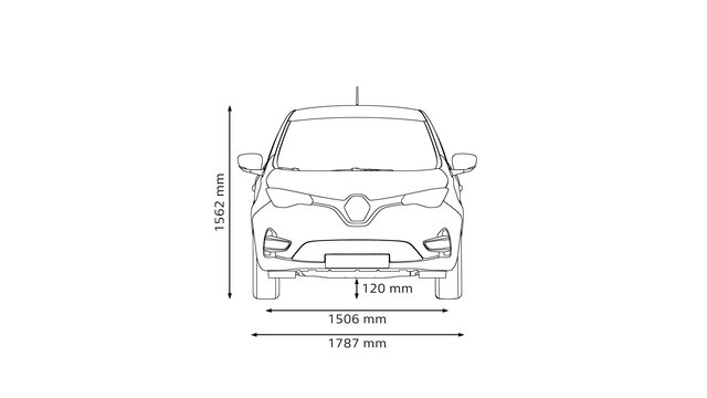 All-new ZOE dimensions front end
