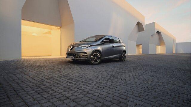 Renault ZOE azul dianteira