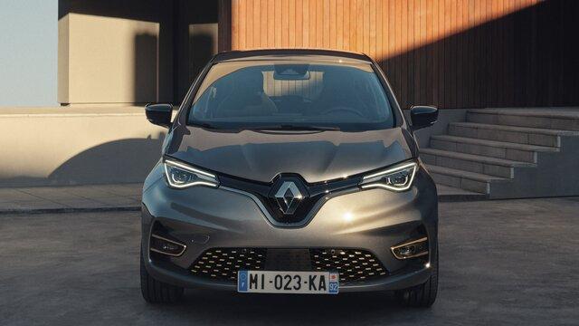 Renault ZOE faróis e capô