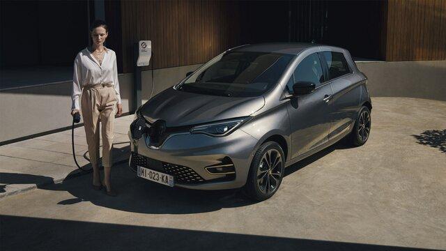 Renault ZOE em carregamento