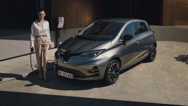 Renault ZOE elektromos autó töltőállomás
