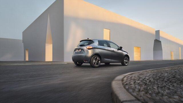 Renault ZOE arrière bleuee