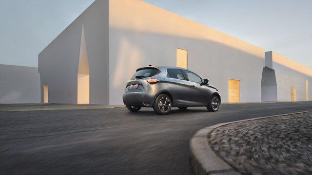 Renault ZOE parte trasera azul
