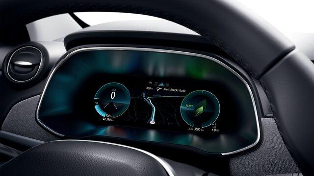 Displej řidiče vozu Renault ZOE, palubní deska