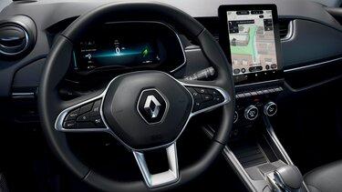 Renault ZOE interior, pantalla, salpicadero