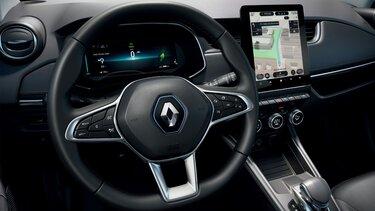 Renault ZOE volante e ecrã do condutor