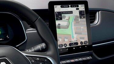 ekran nawigacji Renault ZOE