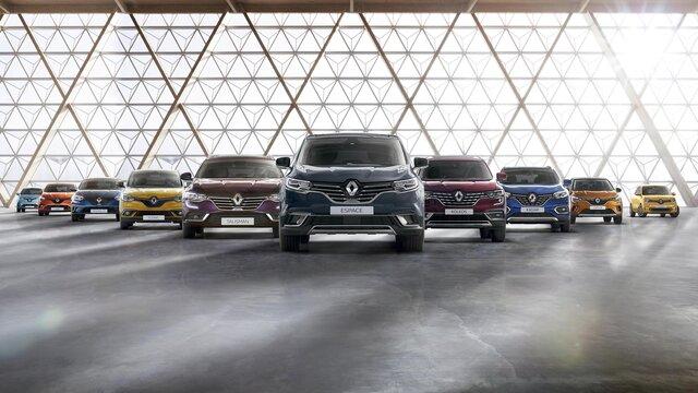 La gama de turismos Renault