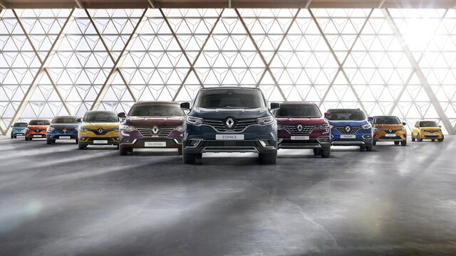 Die Renault Personenwagen-Modellpalette