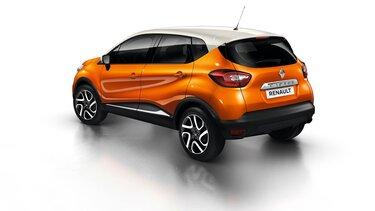 Orange Renault CAPTUR rear