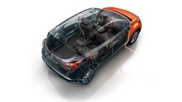 Transparente 3-D Ansicht des Renault Captur