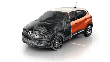 Renault CAPTUR orange scanner capot