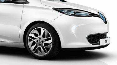 Primer plano del frente de Renault ZOE