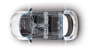 Interior de cabina de Renault ZOE