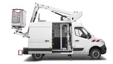 Ombouwing hoogtewerker Renault