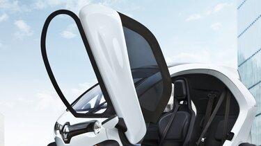 Renault TWIZY Puertas de gaviota con diseño futurista