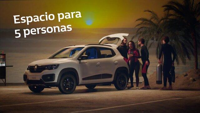 Renault KWID  mayor espacio para cinco personas