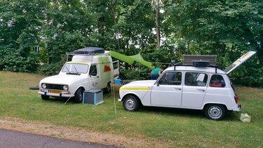 Renault 4 en renault 4 F6 bestel naar de noordkaap kamperen