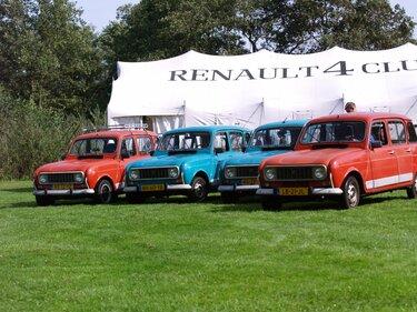 Renault 4 club op een rij renault 4 modellen