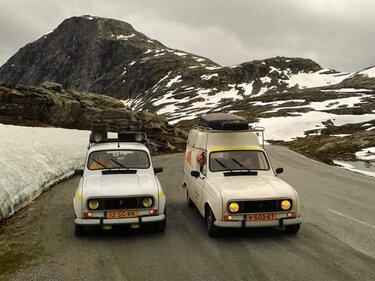 Renault 4 en renault 4 F6 bestel naar de noordkaap