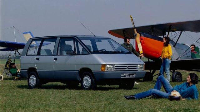 Renault Espace 1 eerste generatie zij en vooraanzicht