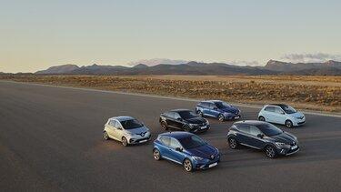 renault hybrid en elektrische auto's range
