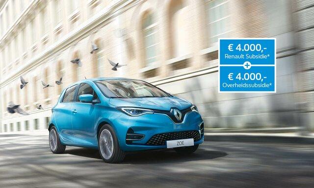Renault ZOE laadpaal subsidieregeling overheid