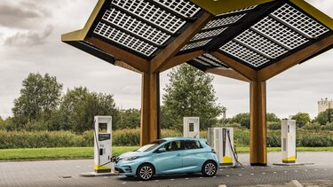 Renault ZOE Cargo Elektrisch snellaadstation
