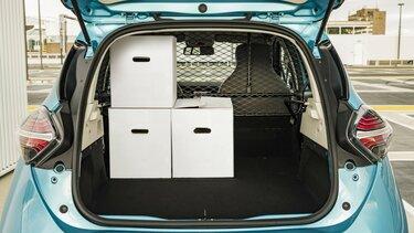 Renault ZOE Cargo Elektrisch ingeladen verhuisdozen