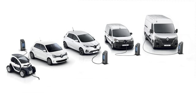 De Renault-reeks elektrische auto's