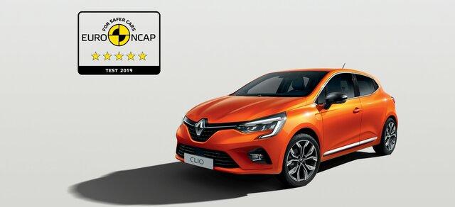 Nowe CLIO 5 gwiazdek Euro NCAP