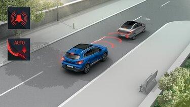 Renault KADJAR system wspomagania nagłego hamowania