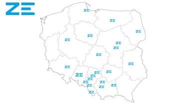 mapa punktów ZE