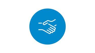 ikona uścisku dłoni