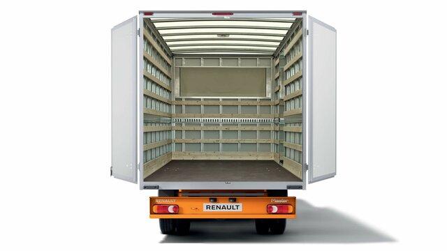 załadowany pojazd dostawczy Renault