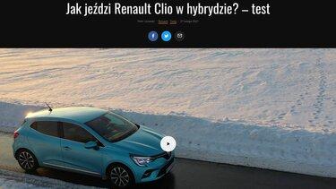 Jak jeździ Renault CLIO w hybrydzie? – test