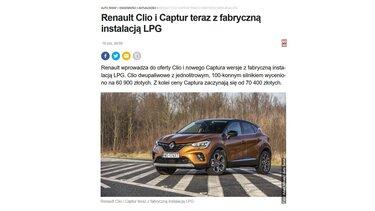 Renault CLIO i CAPTUR teraz z fabryczną instalacją LPG