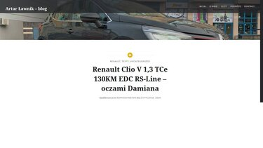 Renault CLIO V 1,3 TCe 130KM EDC RS-Line – oczami Damiana