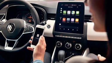 replicação do smartphone no ecrã tátil de 9,3 polegadas CLIO