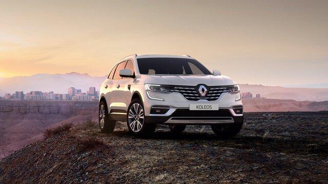 Renault KOLEOS exterior bordeaux, faróis full LED, C-Shape