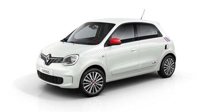 Renault TWINGO branco lado direito