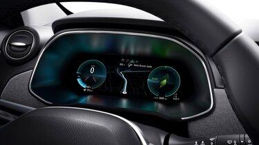 Renault ZOE ecrã do condutor, painel de instrumentos