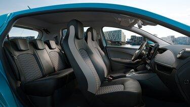 Renaut ZOE interior, lugares dianteiros e traseiros