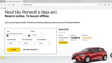 platformă de vânzare online Renault