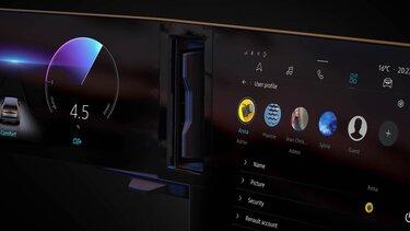 Megane E-Tech 100 electric display