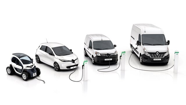 Gama Renault Z.E. - autovehicule electrice pentru profesioniști - Renault Twizy, Renault Zoe, Renault Kangoo